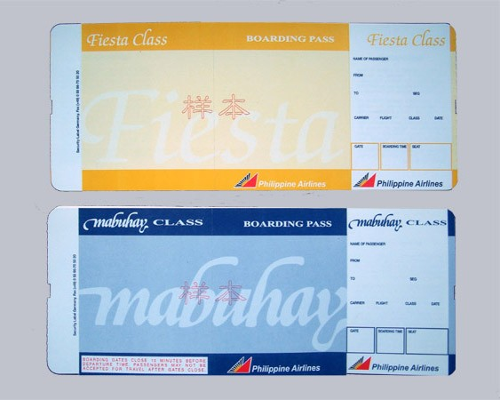 Airline Ticket Boarding Pass Printing Manufacture By Well Known