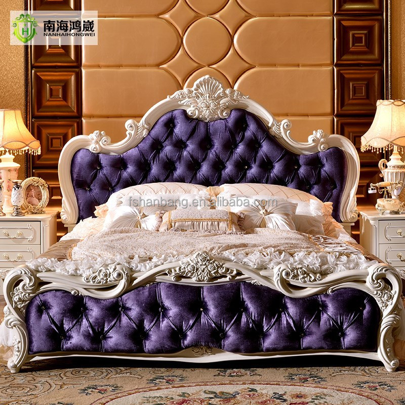 Luxury Classic King Size Wood Mdf Royal French Style Barocco Bedroom ...