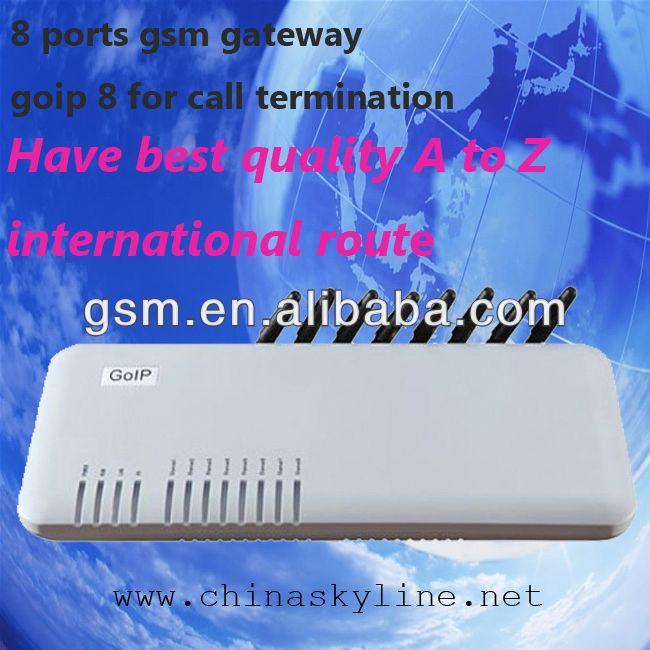 8 GSM GATEWAY!voip gateway with H.323 and SIP,G711/G729/G723 voide code/adsl voip modem