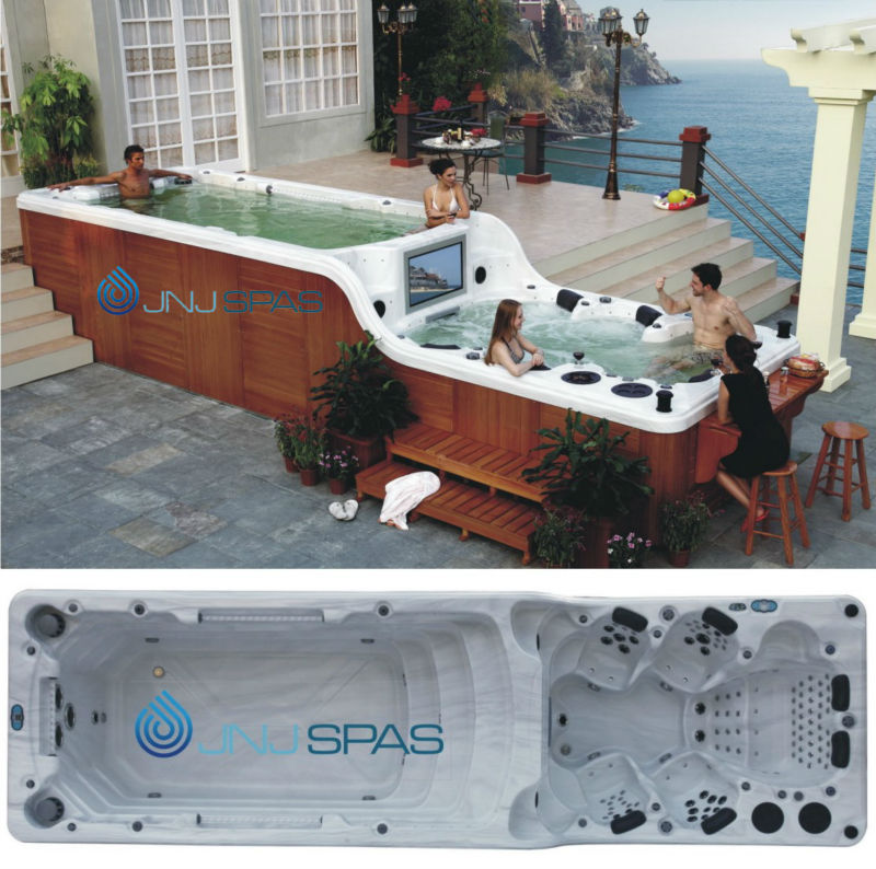 Two-floor Swim Spa/swimming Pool/svommespa (one Pump Control One Swim Jet)  Spa-8178 - Buy Swim Spa,Dual Zone Dual Temp Swimming Pool,Big Swim Spa ...