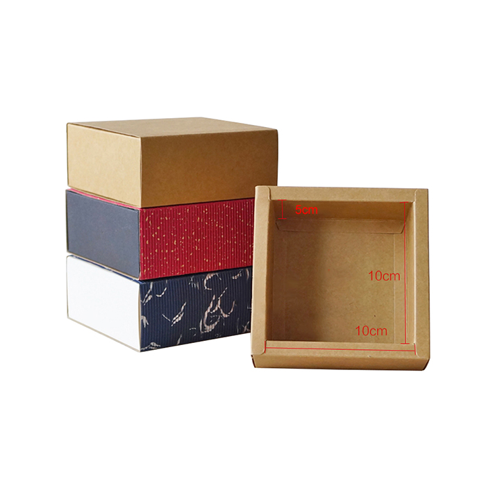 Corrugated handmade soap packaging drawer box