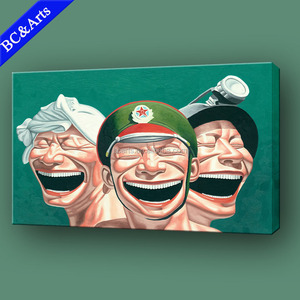 Hot sale cheap price funny laugh people painting art print on canvas