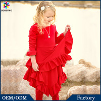 2015 Holiday Xmas Outfits Fashion Dresses Trend Kids Girls New Years Santa Christmas Clothes Outfits