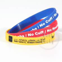 Colorful thin custom bracelets new fashion silk printed silicone wristbands
