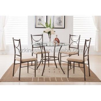 Sedie Per Tavolo Di Vetro.5 Pezzo Di Metallo Di Rame Di Vetro Rotondo Cucina Dinette Sedie Tavolo Da Pranzo Buy Sedie Tavolo Da Pranzo Cucina Dinette Metallo Product On
