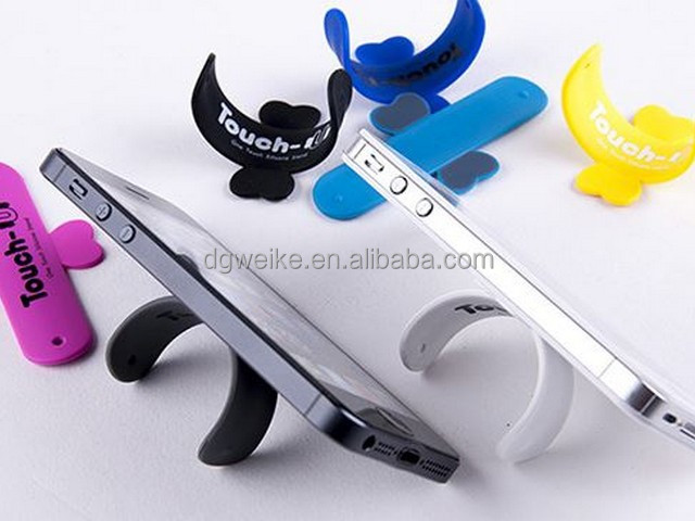 silicone mobile phone holder/silicone card holder adhesive stand/funny cell phone holder