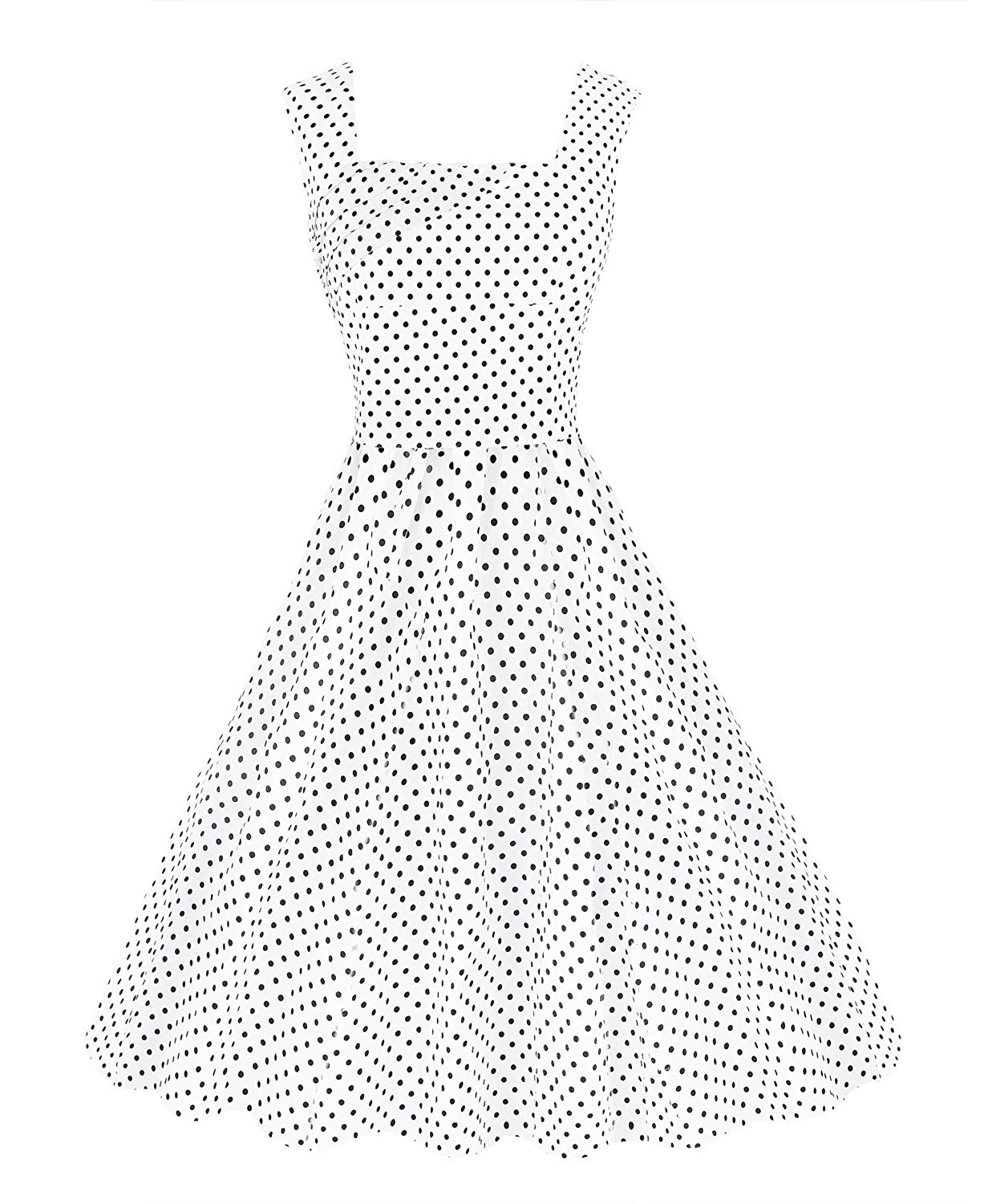 874cd216ac Get Quotations · Kimring Women s 1950 s Vintage Square Neck Sleeveless Wedding  Guest Swing Dress