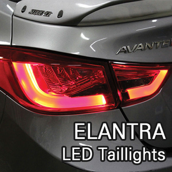 LED Surface Illuminating Taillights for Hyundai ELANTRA 11+