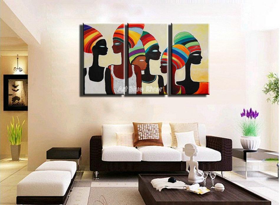 Achetez en Gros peinture à l'huile africaine en Ligne à