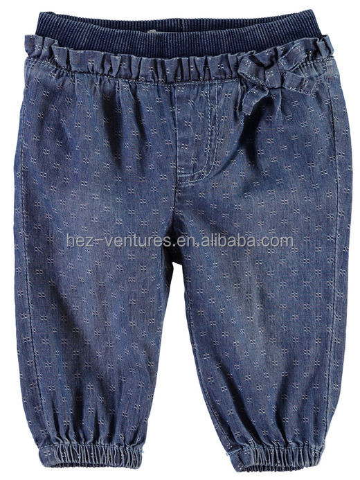 newborn baby denim pants custom kids jeans pattern in childrens's jeans pants spandex/cotton kids baggy jeans pants