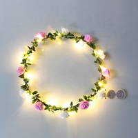 Christmas Gifts For Kids New Arrivals LED Wedding Flower Glowing Crown