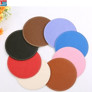 Custom design PU leather coaster/Eco-friendly PU leather coaster/Eco-friendly coffee cup mat