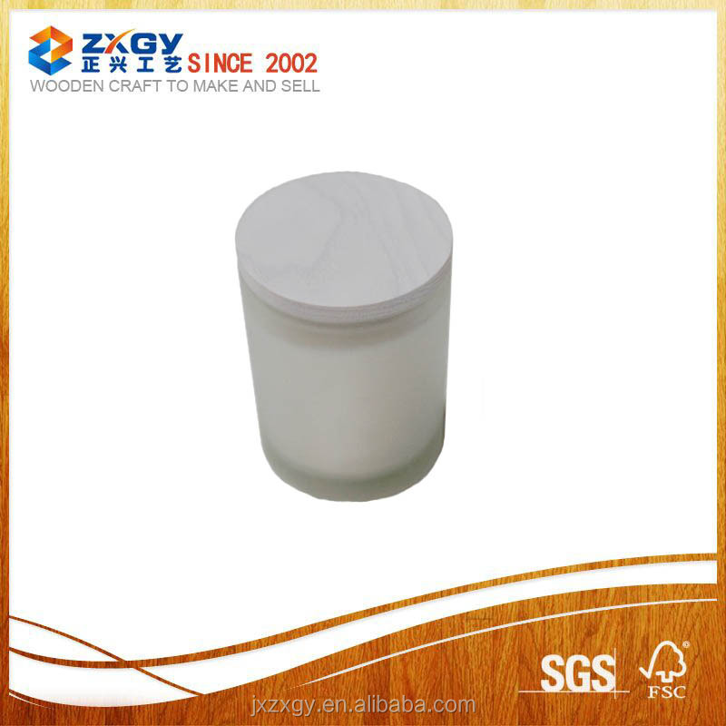wholesale beatiful white frosted bottle with wooden lid