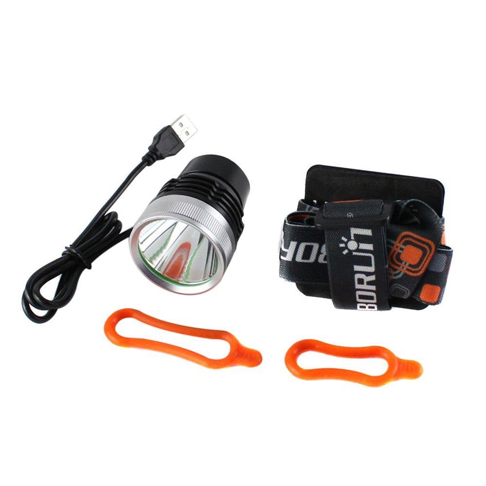 EverTrust(TM) Boruit Aluminum CREE XM-L T6 2000LM LED Headlamp Headlight Bicycle Bike Head Light Lamp 3 Switch Modes 200-400M