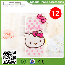 2015 New hello kitty 3D Silicone Case for iPhone 6 Cartoon kitty Case CPI6024(1)