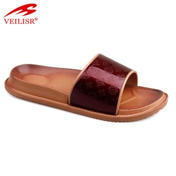 add396c3dbdd Indoor Ladies Pvc Upper Classic Slide Sandals Women Hotel Slippers ...