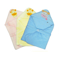 SEDEX AUDIT Factory China Supplier Baby Bath Towel 75X75CM Hooded Wearable Baby Blanket