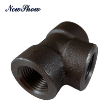 Ansi b16.11 carbon steel A105 Forged pipe fittings tee Sch40