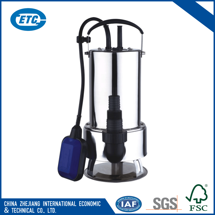 1100w Stainless steel small clean submersible water pump