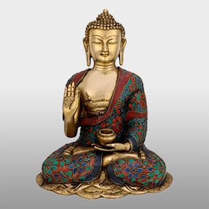 Metal crafts bronze happy buddha statues
