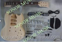 Cheap High Grade Unfinished Guitar Kits/ SG Style DIY Electric Guitar Kits for sale