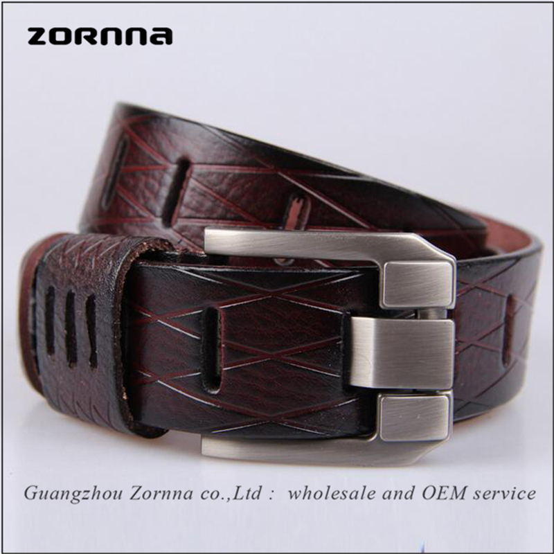 Wholesale Stock manufacturing quality material embossing men genuine leather <strong>belt</strong>