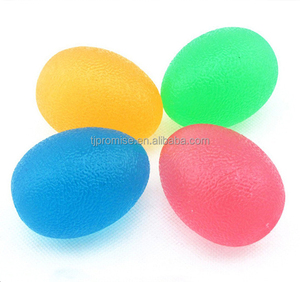 Therapy Exercise Massage 3 Level Egg Shape TPR Gel Stress Strengthening Hand Grip ball