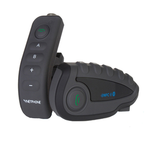 NFC support V8 bluetooth helmet intercom with remote controller 5 riders 1200m BT interphone