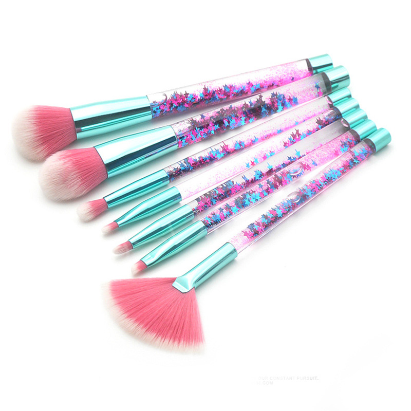 Unicorn Make Up Brush Set Con Il Sacchetto Glitter Cosmetico Eco-Friendly Spazzola di Trucco Set Set Da Viaggio