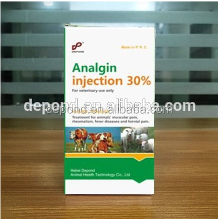 Animal health Veterinary drugs dogs analgin Injection as Antipyretic Analgesics from GMP certified companies