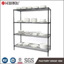 NSF approval kitchen dish wire rack and restaurant shelving from shelf factory