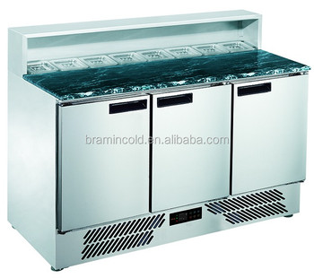 Commercial Stainless Steel Salad Prep Table Salad Refrigerator - Commercial prep table refrigerator