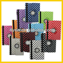 360 Degree Rotate Leather Case for iPad mini Case Smart Cover 360 Strong Magnet Ultra Thin Leather Case for Tablet PC Polka Dot