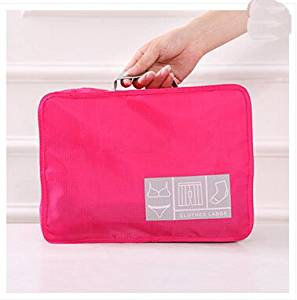 Travel Clothing Storage bag Travel Fold Storage Bag On a business trip Necessary Articles Finishing kits bag in bag rose Red