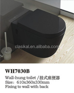 WH7030B Ukraine Hotsale model black color wall hung urinal toilet bowl