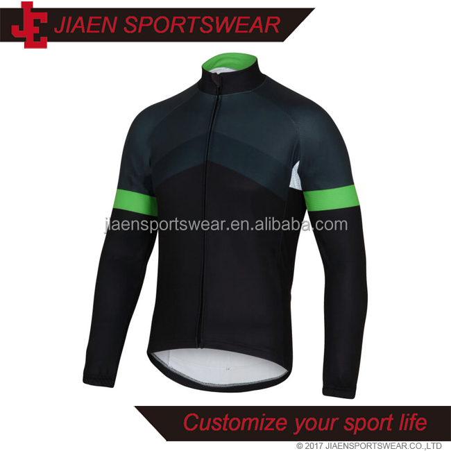 Long sleeve autumn winter custom made personalised sublimation cycling jersey pro cycling jersey