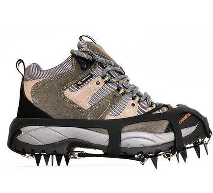 334d2bc50c347 Antidérapant pointes de glace en acier de chaussures de neige grabbers  neige chaussure crampon d