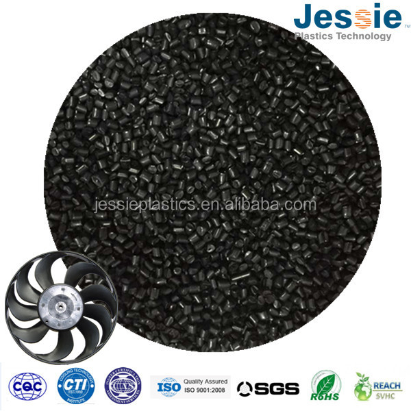Glass fiber reinforced polyamide black color plastic granules nylon 6