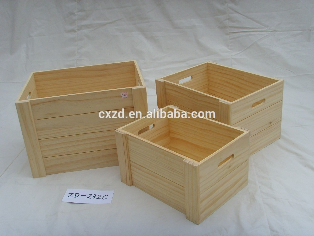 Vendors promoting rectangle shape set four wooden crate for Where do i find wooden crates