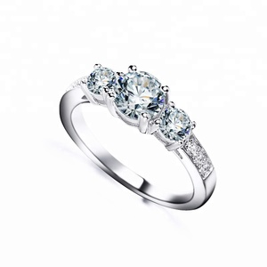 silver ring 925 sterling jewelry micro pave cz white gold rings jewelry women wedding