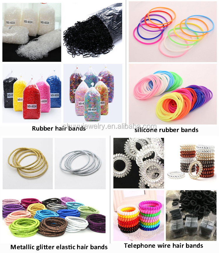 Factory Wholesale Women Girls Fashion Basic Hair Accessories Thin Elastic Hair Ties Elastic Hair Band