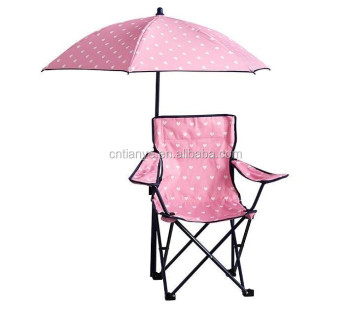 Kids Folding Beach Chair With Umbrella Set