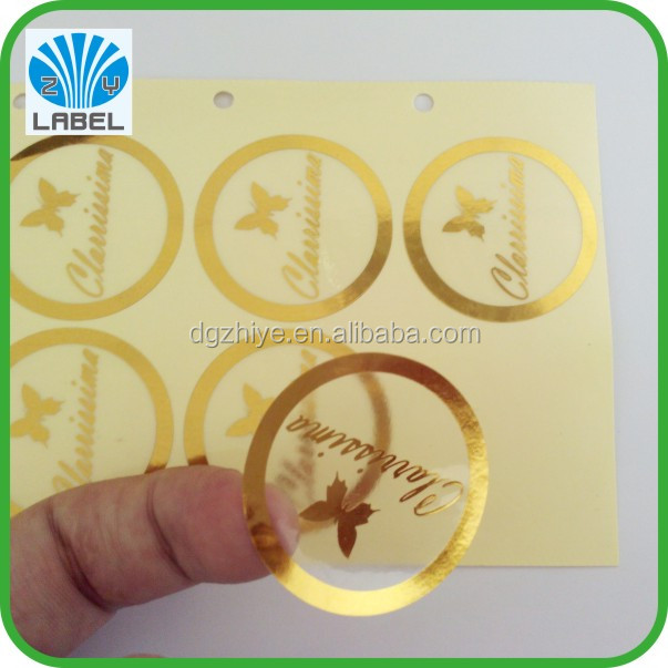 Custom label sticker transparent label logo sticker with gold stamp buy transparent labellogo stickercustom label product on alibaba com