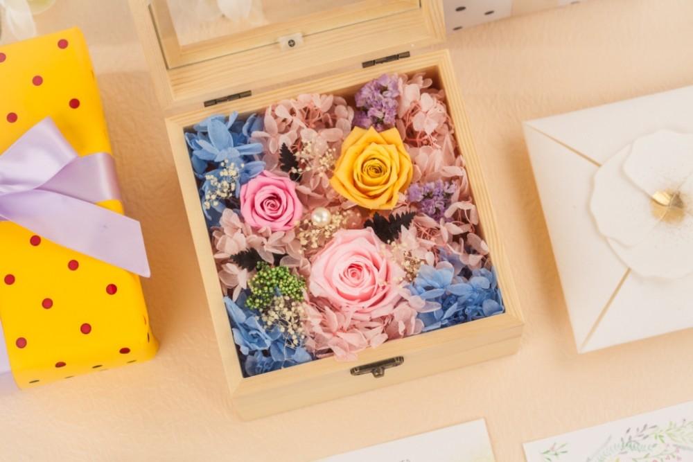 Souvenir Konservierte Blumen Unsterblich Blumen Bunte Rosen