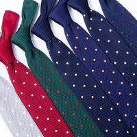 Custom Design 100% Polyester Knitted Novelty Mens Neck Ties