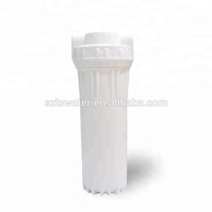 "Food grade plastic white 10 inch 1/4"" / 1/2"" male thread filter cartridge housing for water treatment"