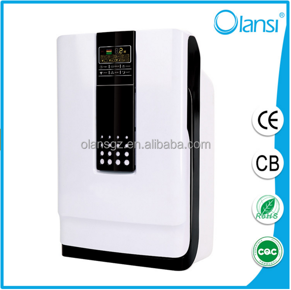CE Rohs FCC Approval Guanglei Photocatalyst Air Purifier with Ionizer and Ozonator HEPA Active Carborn LCD and Remote OLS-K01
