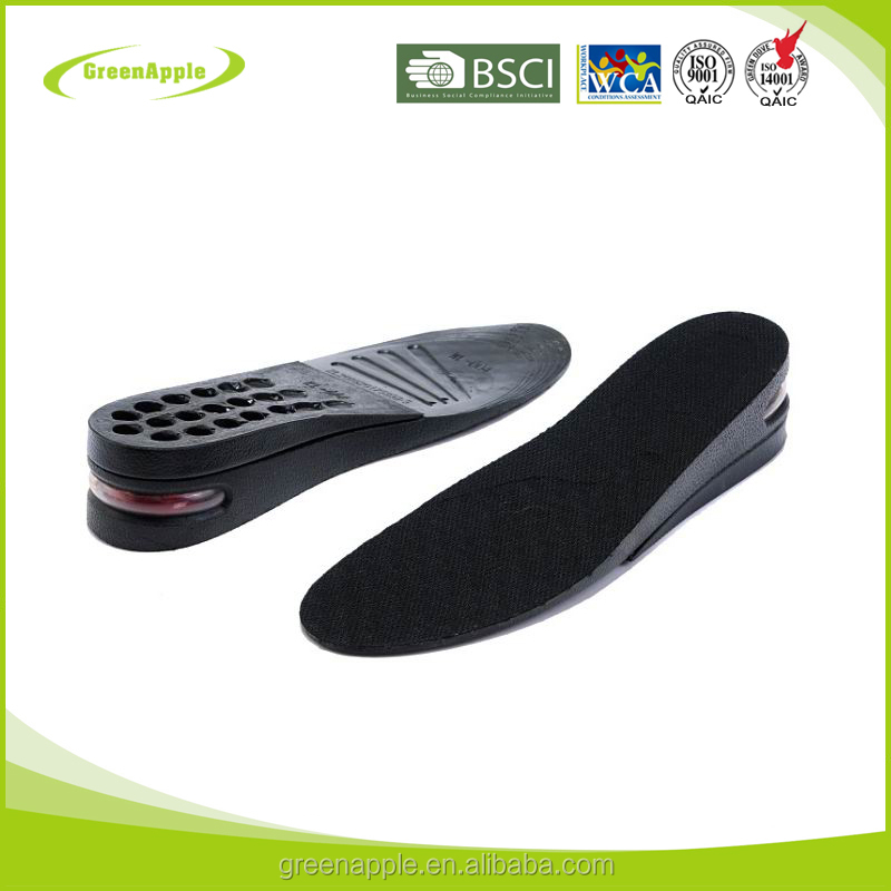 2 Layers Adjustable Air Cushion Men shoe increase Lifts Hieght Increasing Elevator PU Shoe Sols Insoles