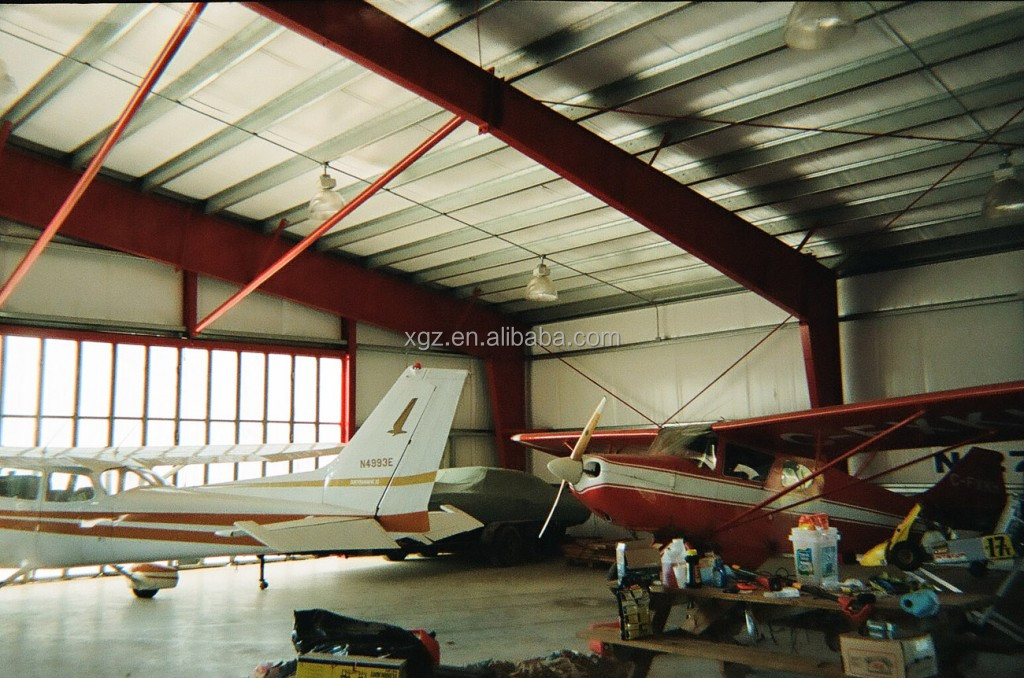 pre-engineered steel structure airlines hangar