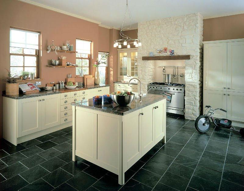 Compl te ivoire cr me agitateur cuisine armoire de cuisine for Ivory kitchen ideas